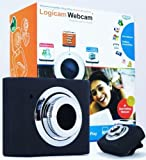 Laptop Webcam, Logicam Webcam Laptop Camera, Skype Webcam, Mini Retractable USB Webcam, Web Camera with Built-in Microphone, Light Weight (25g) - Plug and Play no driver needed, Works with Skype Yahoo MSN Etc - (SAME OR NEXT DAY DISPATCH)
