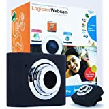 Laptop Webcam, Logicam Webcam Laptop Camera, Skype Webcam, Mini Retractable USB Webcam, Web Camera with Built-in Microphone, Light Weight (25g) - Plug and Play no driver needed, Works with Skype Yahoo MSN Etc - (SAME OR NEXT DAY DISPATCH)by Logicam