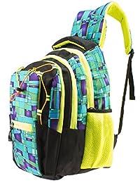 GLEAM Trendy Multicolour School Bag ( Green )
