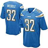 Mens San Diego Chargers Eric Weddle #32 Powder Blue Game Jersey