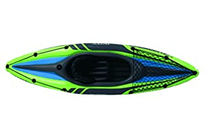 Intex Challenger K1 Kayak, 1-Person Inflatable Kayak Set with Aluminum Oars and High Output Air Pump