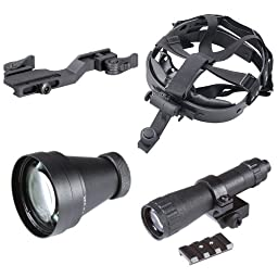 Armasight Select Kit for Nyx14 Night Vision Monocular: Goggle kit, 3x A-Focal Lens, Quick Release Picatinny Weapon Mount, IR850, Weaver Rail Adapter