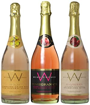 Weibel Family Fruity Bubbles, 3 x 750 mL Wine Mixed Pack