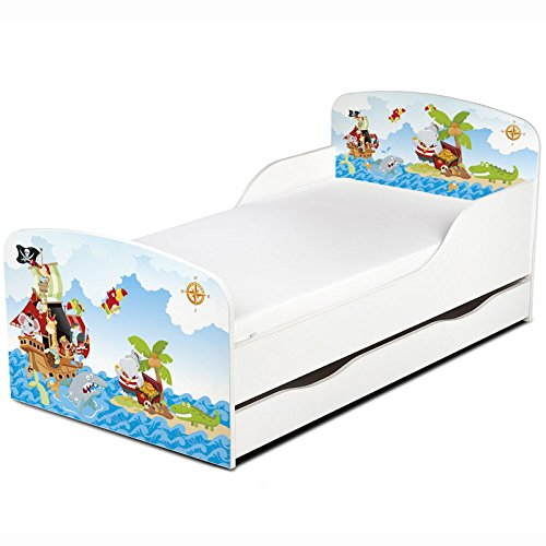 PriceRightHome Pirates Design MDF Toddler Bed with storage
