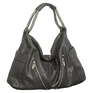 Dark Grey Vitalio Vera Large ''Keanu'' Hobo