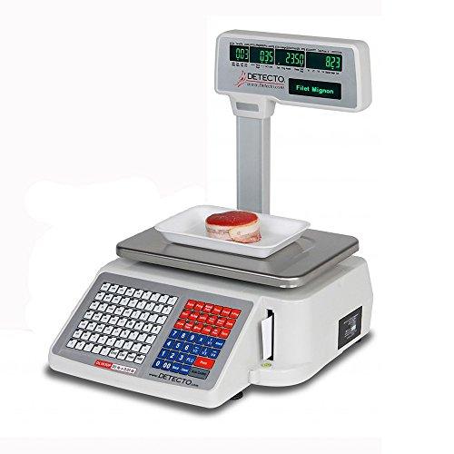Detecto DL1060P Deli Scale with Integral Printer, Tower Pole Display, 60 lb. x 0.02 lb. (Deli Printer compare prices)