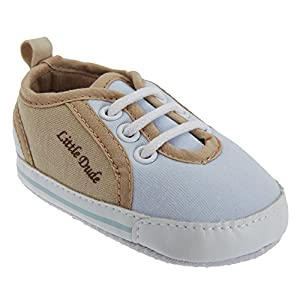 Chaussures style baskets à lacets Little Dude - Bébé garçon (6-12 mois) (Bleu)