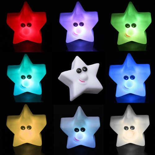 Shining Star 6 Colors Changing Led Lamp Decor Night Light For Baby