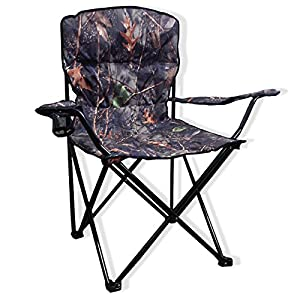 Big Bubba Padded Camo Folding Camping Chair 500 LB Capacity