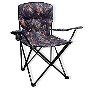 Big Bubba Padded Camo Folding Camping Chair 500 LB Capacity