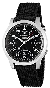 Seiko 5 #SNK809 Men's Fabric Strap Self Winding Automatic Watch