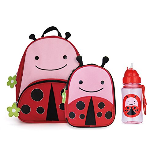 Skip Hop Zoo Backpack, Lunchie, and Bottle Set - Ladybug - 1