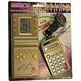 PACK de Tetris + Reloj + Calculadora para niños - Mod.EV-3000 Color Dorado