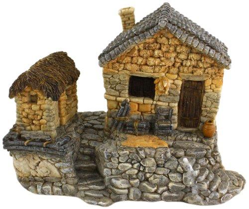 Top Collection Enchanted Story Garden and Terrarium Fairy House Outdoor Decor with Tool Shed