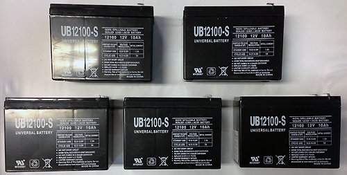 12V 10Ah Sla Battery Replaces Electric Scooter Schwinn S180 / S500 - 5 Pack
