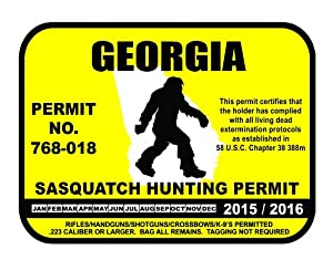 Georgia sasquatch hunting permit license for How much is a georgia fishing license