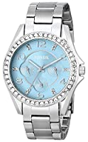 Fossil Women's ES3529 Riley Analog Display Analog Quartz Silver Watch by Fossil