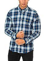 Mc Gregor Camisa Hombre (Blanco / Azul)