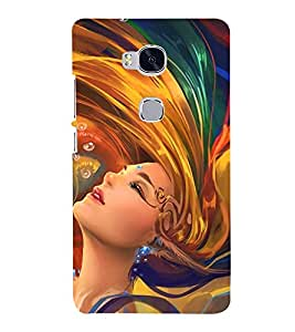 Stylish Woman Design 3D Hard Polycarbonate Designer Back Case Cover for Huawei Honor 5X :: Huawei Honor X5 :: Huawei GR5
