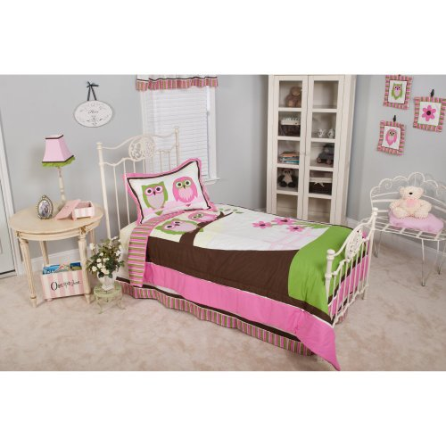 Sweet Dream Owls Twin 3 Piece Bedding Set