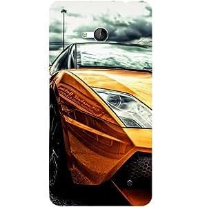 Casotec Street Lamborghini Design 3D Hard Back Case Cover for Microsoft Lumia 640