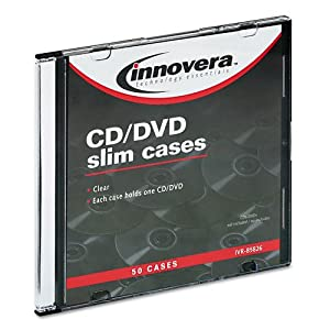 NEW - CD/DVD Polystyrene Thin Line Storage Case, Clear, 50/Pack - 85826