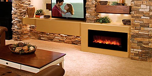 """Modern Flames 43"""" Fantastic Flame Linear Electric Fireplace"""