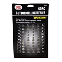 Button Cell Batteries 40 PC AG1 AG3 AG4 AG5 AG10 AG12 1.5 Volts Alkaline Coin !!
