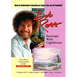 Bob Ross: Seascape with Lightouse