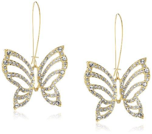 Guess - UBE41310 - Boucles d'Oreilles Femme - Métal doré - Papillon