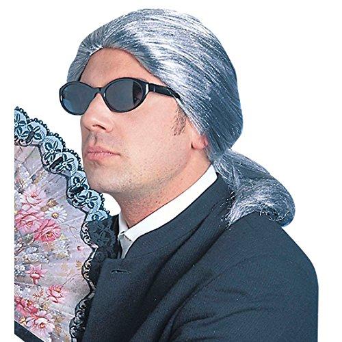 Parrucca guru della moda Karl Lagerfeld colore grigio parrucca di carnevale stilista parruca per travestimento