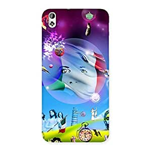 Delighted Wonder World Multicolor Back Case Cover for HTC Desire 816g