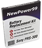 Battery Replacement Kit for Sony PRS-300 with Installation Video, Tools, and Extended Life Battery
