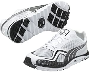 Puma Golf Footwear Mens Faas Lite Mesh Shoe,White/Black,12 D US
