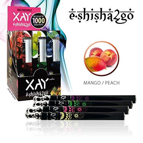 XAY E Shisha Ultra E Hooka Elektrische Shihsha Einweg Wasserpfeife E-Pfeife E-Shisha2Go Pfirsich