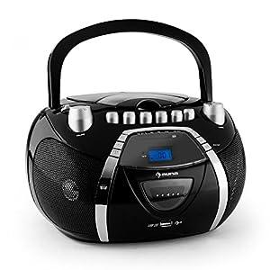Auna beeboy poste radio k7 portable avec lecteur cd et - Lecteur cd usb portable ...
