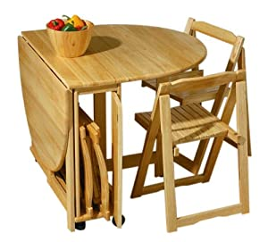 premier housewares rubberwood butterfly dining table and chair set 74
