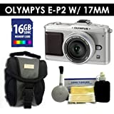 Olympus PEN E-P2 Digital Camera w/17mm Lens (Silver) Value Kit