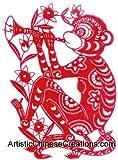 Chinese Zodiac Symbols / Chinese Paper Cuts - Monkey