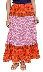 Rangreja Women's Skirt (WSK131WO36_Orange_36)