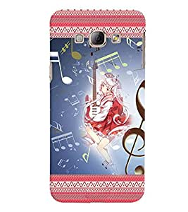 Fuson 3D Printed Music Girl Designer back case cover for Samsung Galaxy A8 - D4146