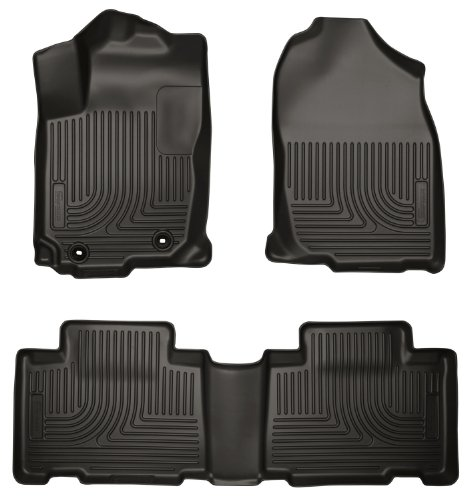 Husky Liners 98971 WeatherBeater Black Front and 2nd Seat Floor Liner