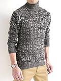 (オークランド) Oakland ケーブル編み タートルネック ニット セーター 品質 モード クリーン クオリティ スプリング デザイナーズ 春 メンズ ランキングお取り寄せ