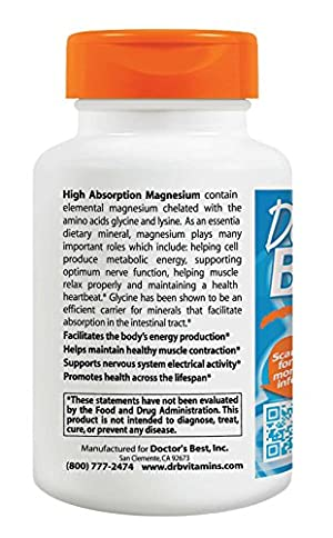 Doctor's Best High Absorption Magnesium (200 Mg Elemental), 240-Count