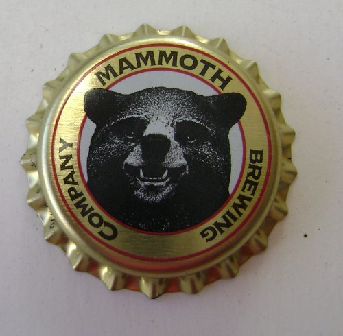 Mammoth Brewing Company Collectible Bottle Cap Fridge Magnet