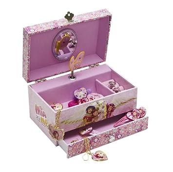 Joy toy 118107 mia and me portagioie con scomparto per anelli e bracciali con carillon in - Costruire un portagioie ...