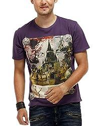 Chlorophile Men's Round Neck Cotton T-Shirt (Wc_Ink_Medium)