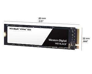 WD Black 1TB High-Performance NVMe PCIe Internal SSD - M.2 2280, 8 Gb/s - WDS100T2X0C (Certified Refurbished) (Tamaño: 1TB)