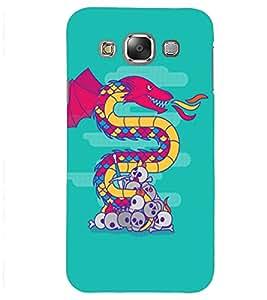 PrintVisa Modern Art Dragon And Skull 3D Hard Polycarbonate Designer Back Case Cover for Samsung Galaxy J2