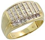 10K Gold Men's Ring, w/ 0.50 Carat Brilliant Cut Diamonds, 1/2 in. (13mm) wide
